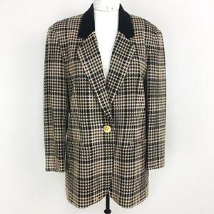 Vintage Leslie Fay Oversized Houndstooth Blazer